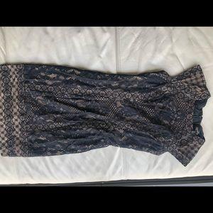Tadashi Shoji black lace dress